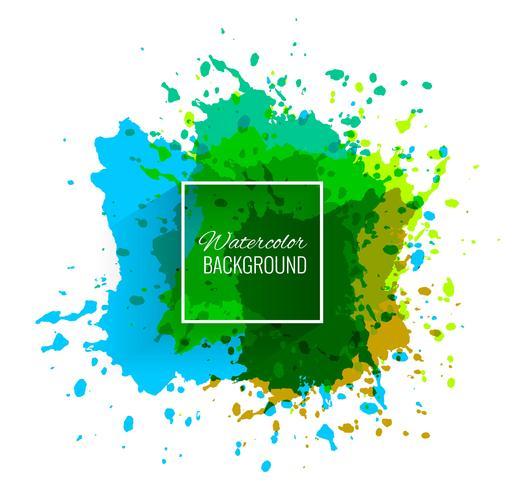 Elegant färgstark vattenfärg vektor bakgrund