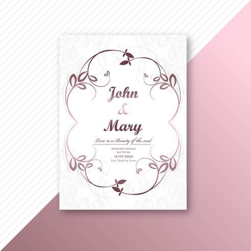 Marco decorativo diseño de plantilla de tarjeta de boda