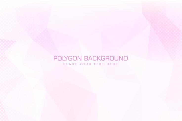 Fond de polygone rose clair moderne