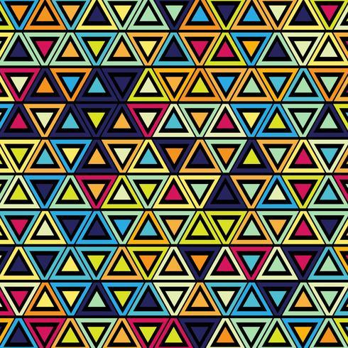 Geometrisk färgstark mönster bakgrunds illustration