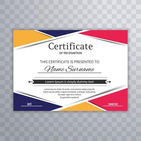 Modèle de certificat Premium récompense vecteur de fond diplôme