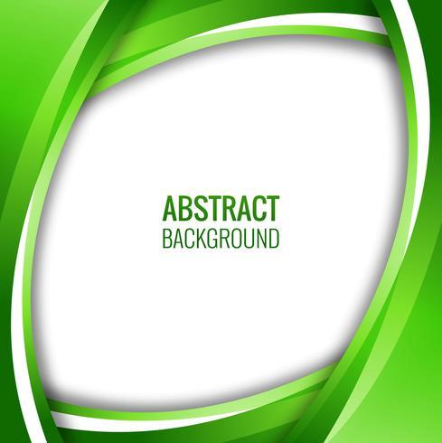 Abstrakt kreativ grön vågig bakgrund