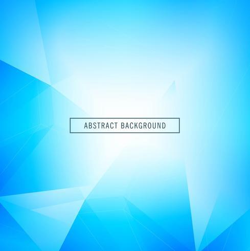 Vacker blå geometrisk bakgrund med polygon design