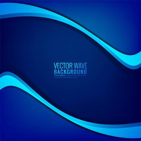 Abstrakt elegant blå våg bakgrund