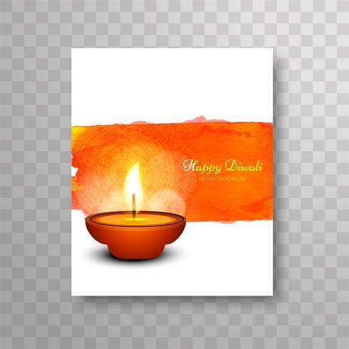 Modern vacker diwali modern broschyrdesign