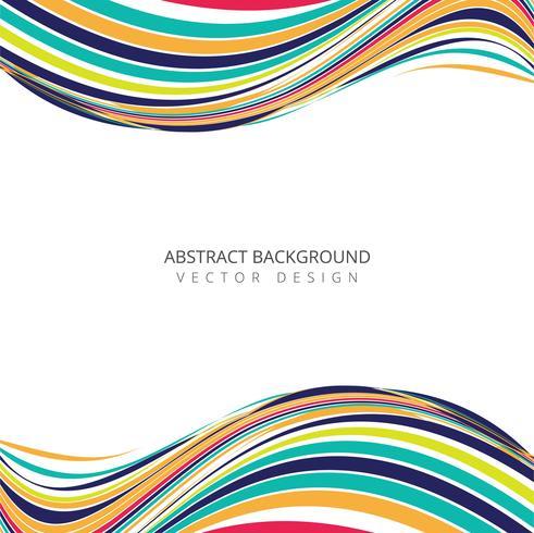 Abstrtact färgglad kreativ stilig vågdesign vektor