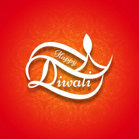 Diseño moderno y elegante de diwali.