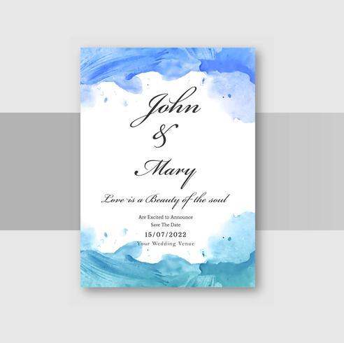 Vecteur de conception élégante de mariage invitation carte