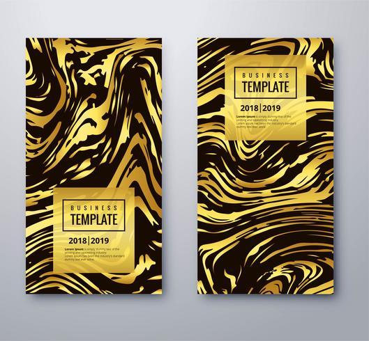 Elegant gyllene affärsmall med texturdesign