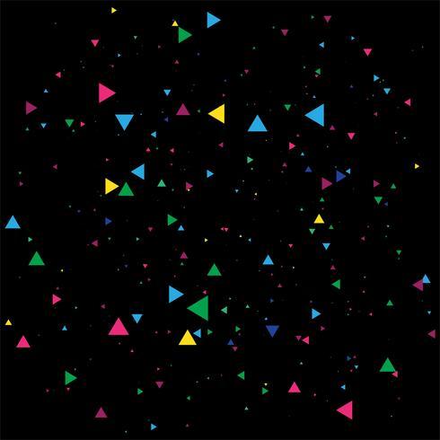 Abstracte kleurrijke confetti-viering op een zwarte achtergrond