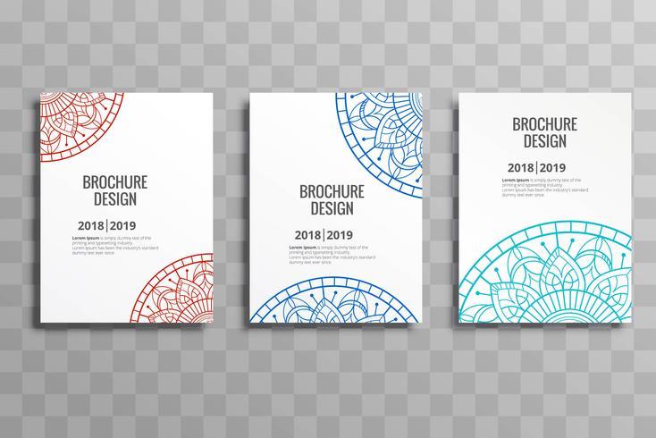 Negocio moderno diseño de plantilla de mandalas folleto diseño