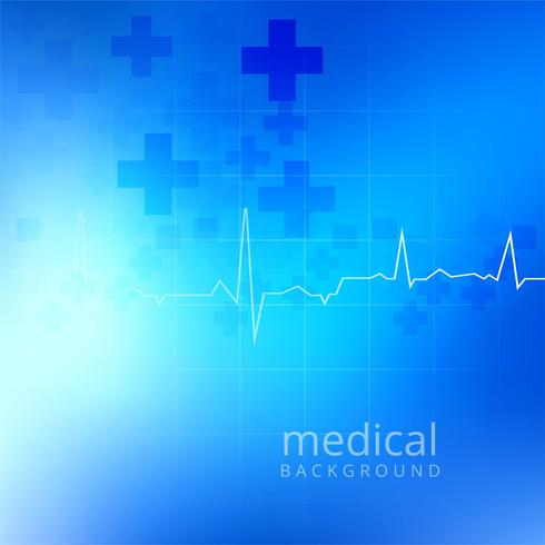 Abstract blue medical background vector