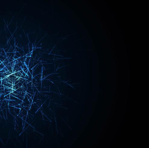 Abstrakter blauer Technologiehintergrundvektor vektor