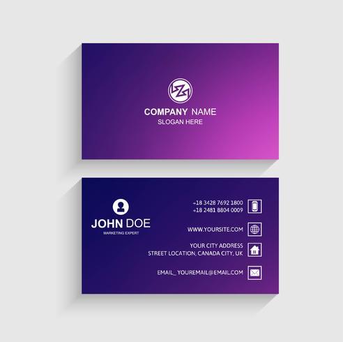 Abstrakt färgrik visitkortdesign