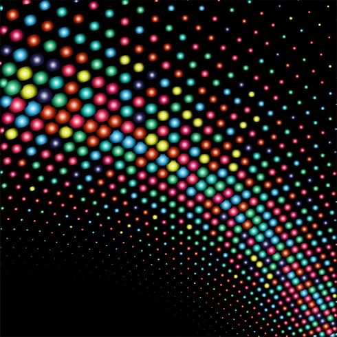 Abstract shiny colorful dots wave background