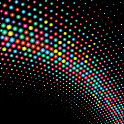 Abstrakt glänsande färgstarka prickar våg bakgrund