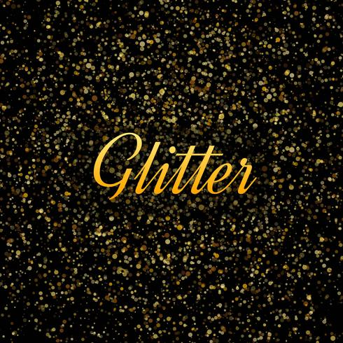 Abstract Gold glitters shiny background vector