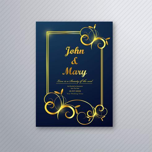 Lycklig bröllopskort flygblad mall design vektor