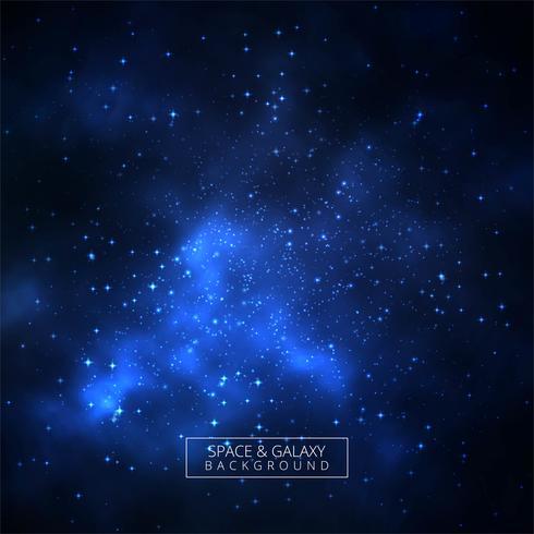 Mooie blauwe melkwegachtergrond met universum
