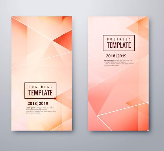 Abstract colorful polygon template set design vector