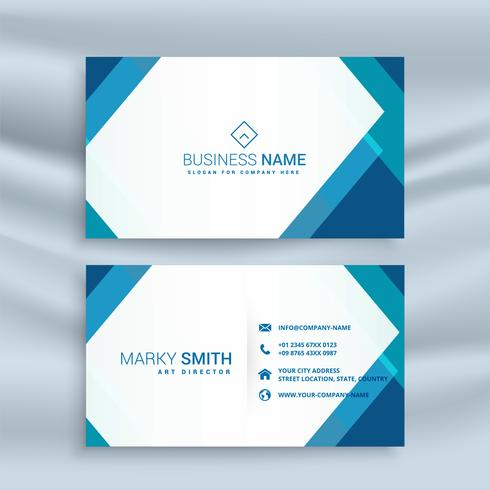 design professionale blu geometrico biglietto da visita