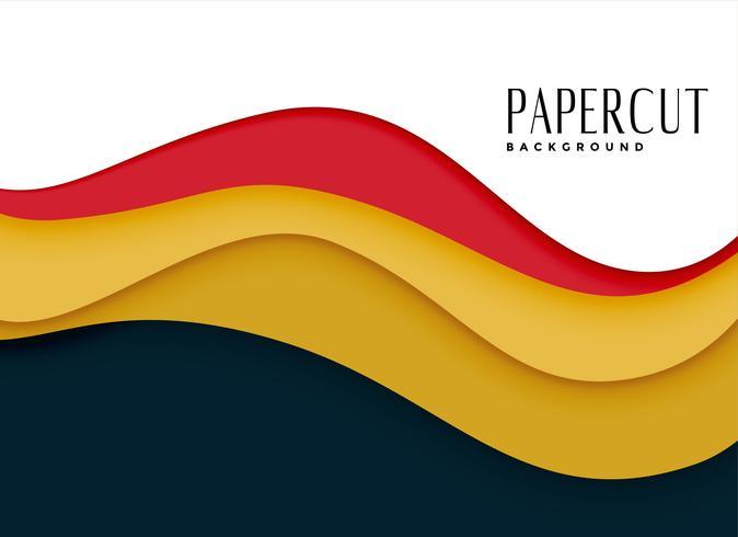 elegant pappersklippningsbakgrund i vågig stil