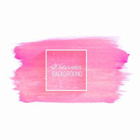 Mano dibujar fondo acuarela rosa trazo vector