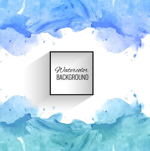 Abstract blue splash watercolor background vector