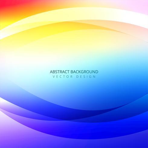 Abstrakt färgrik våg bakgrunds illustration vektor