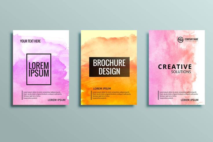 conjunto de folletos de negocios coloridos modernos vector