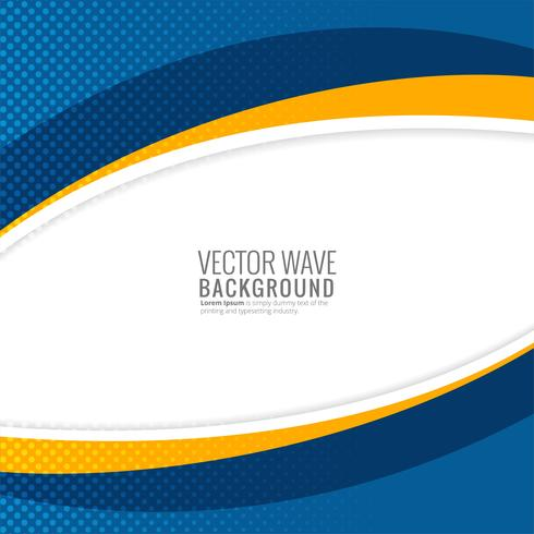 Modern stylish colorful wave background illustration