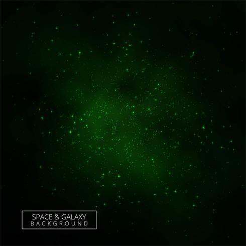 Resumen galaxia verde universo fondo vector