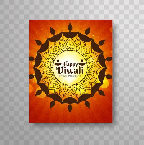 Opuscolo moderno Happy Diwali