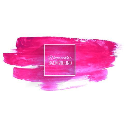 Mão de aquarela rosa abstrata desenhar design de traçado