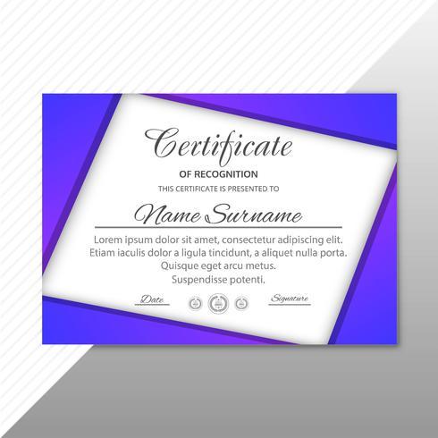 Vettore di design moderno modello elegante certificato