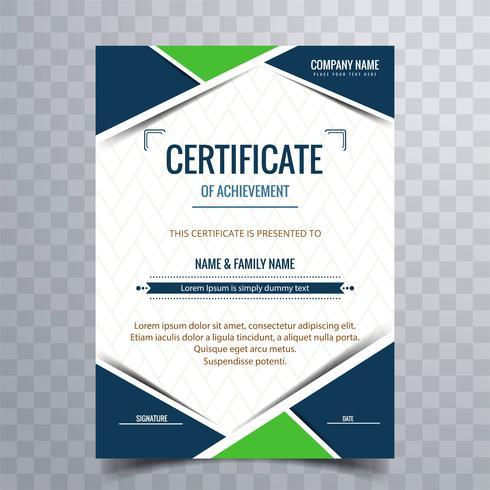 Certificado moderno vector de fondo