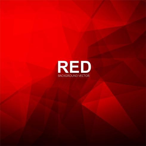 Ilustração em vetor fundo vermelho lindo polígono