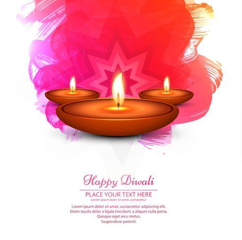 Fondo luminoso di diwali variopinto bella moderna