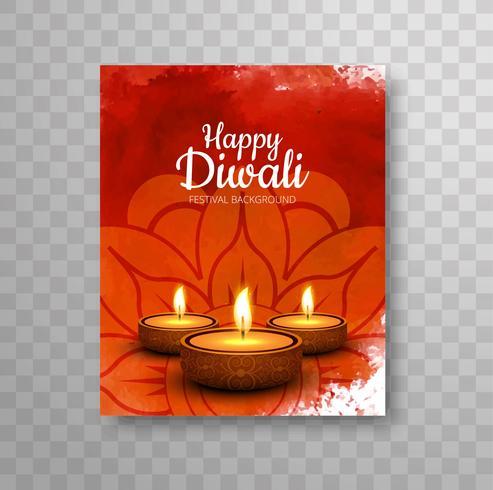 Folheto de Diwali feliz e moderno