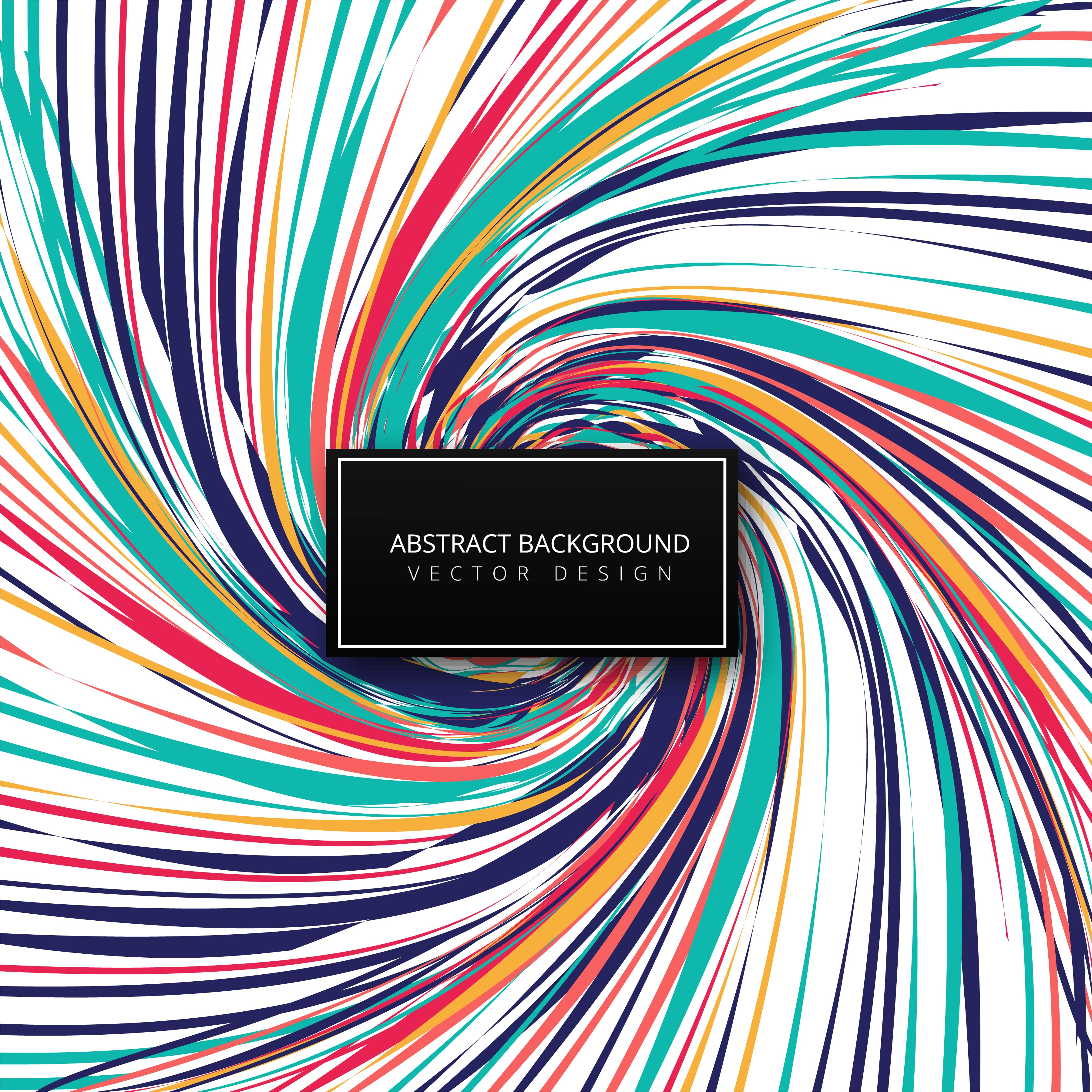 Abstract swirl colorful lines wave background vector ...