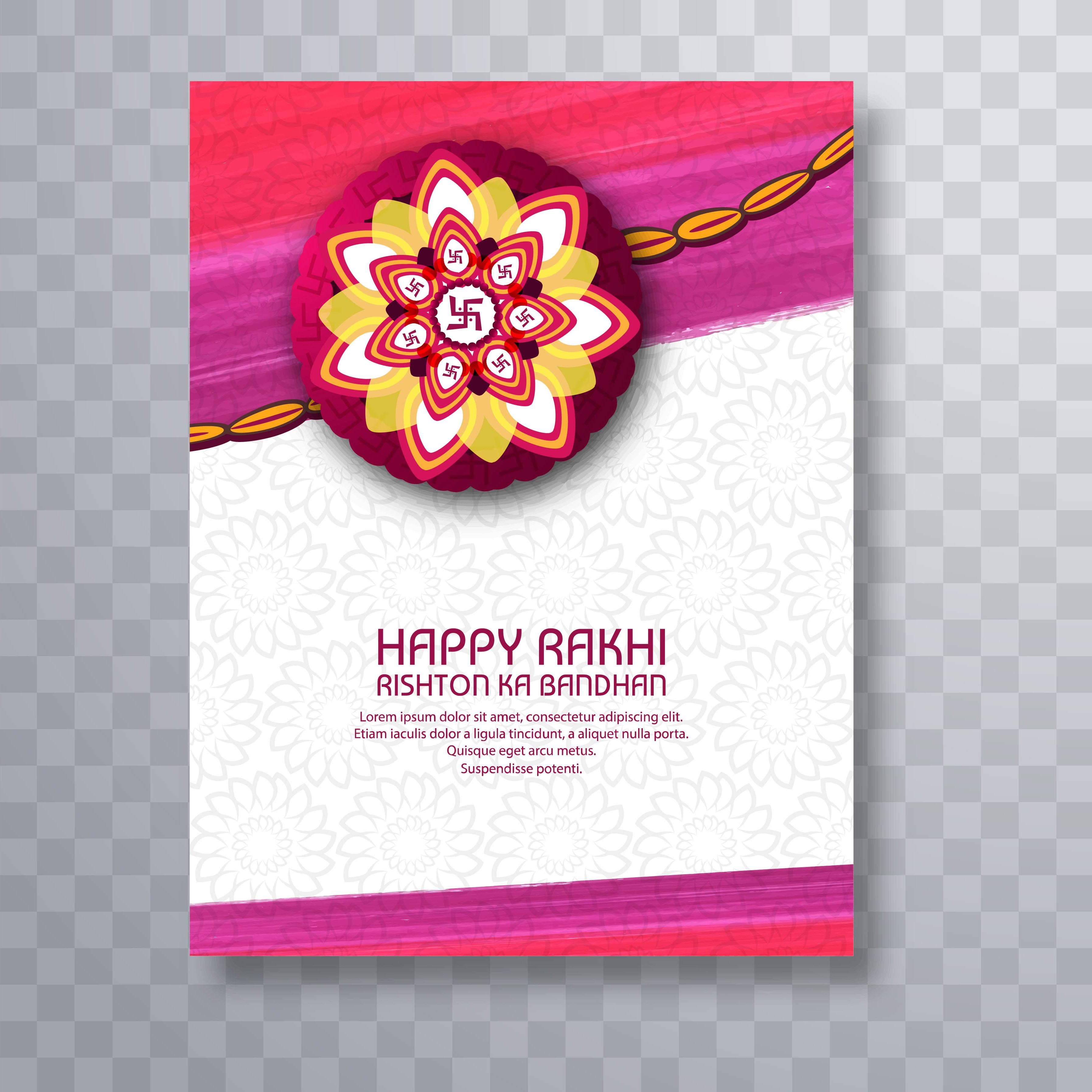 Illustration Of Greeting Card With Decorative Rakhi For Raksha B