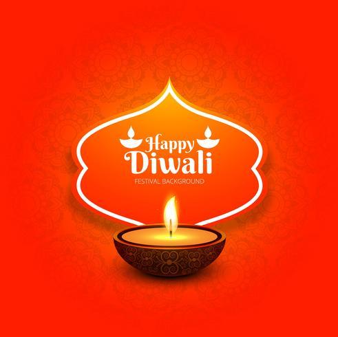 Gelukkige diwali mooie glanzende achtergrond