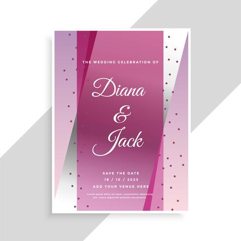 abstract geometric wedding card design