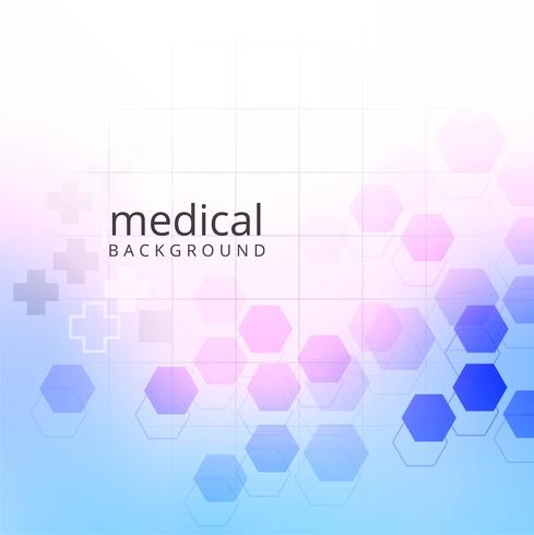 Medicinsk bakgrund med sexkantiga geometriska former design vektor