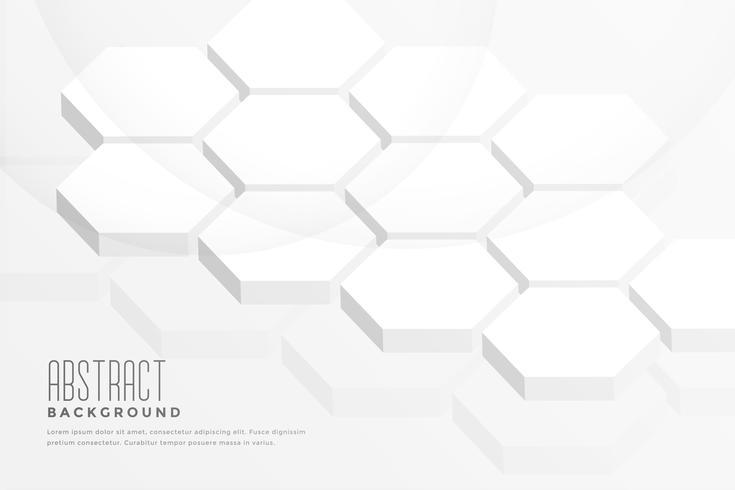 3d hexagonal shape abstract white background
