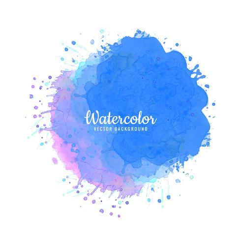 Splash colorful watercolor background vector