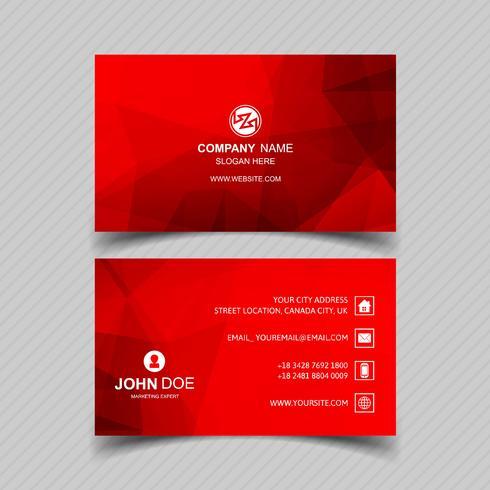 Design moderno modello di biglietto da visita rosso