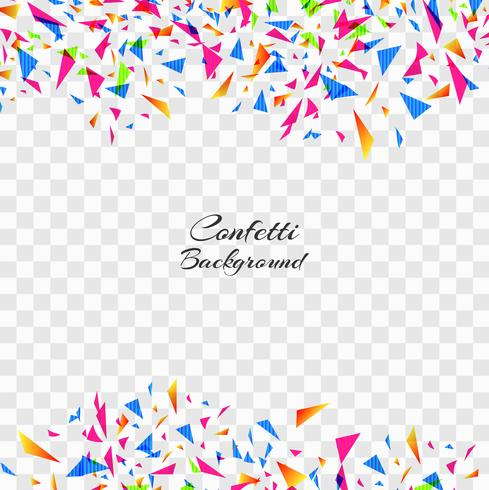 Abstract Colorful Confetti On Transparent Background. Celebratio