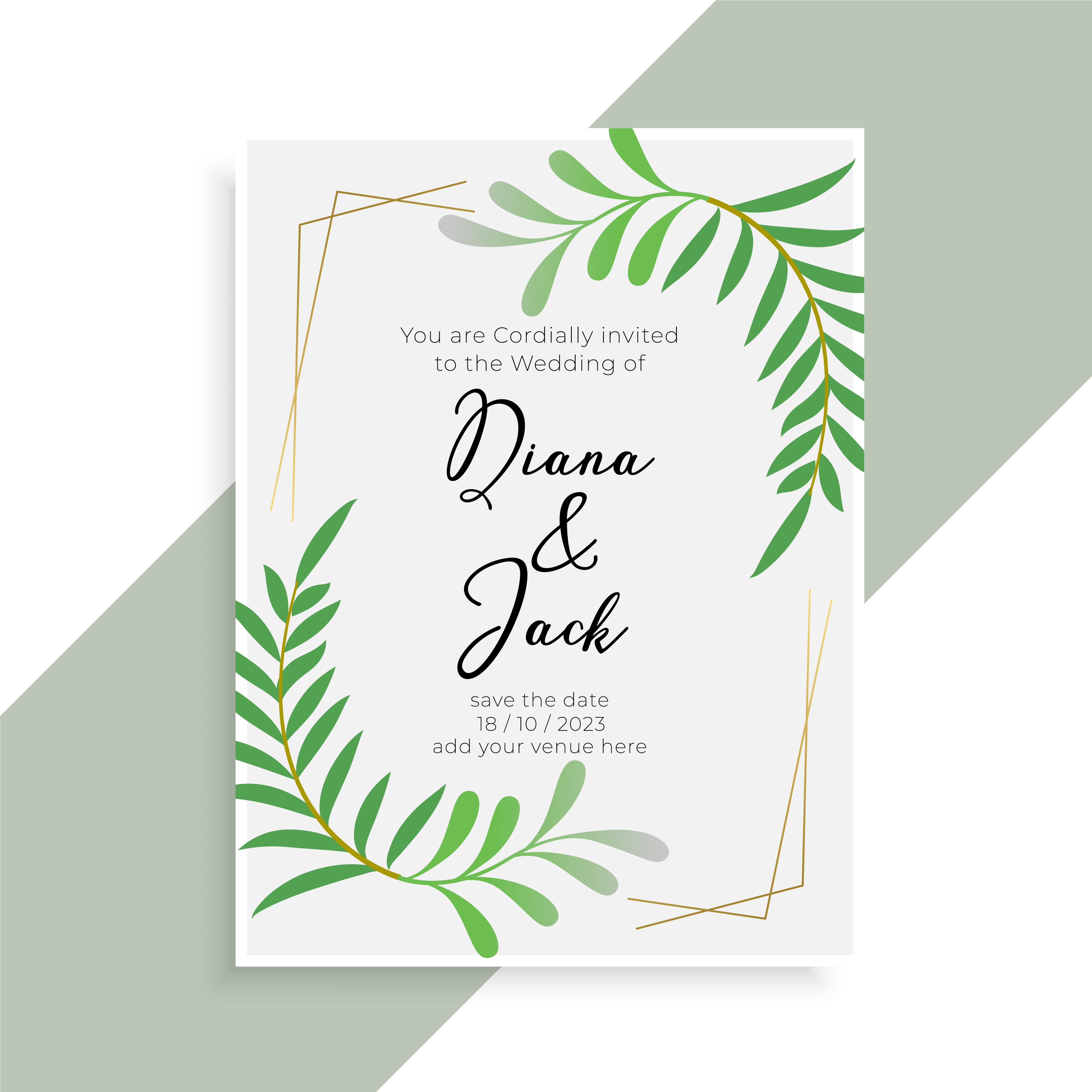 wedding invitation card elegant design Download Free