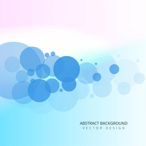 Abstrakt blå cirklar bakgrunds vektor